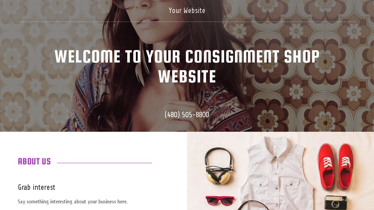 Consignment Shop Website: Example 12