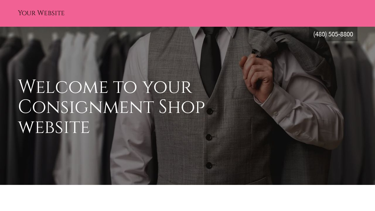 Consignment Shop Website: Example 15