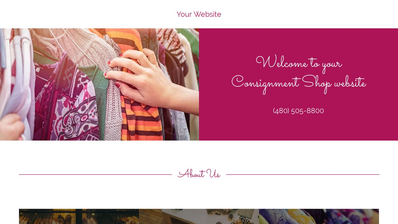 Consignment Shop Website: Example 4