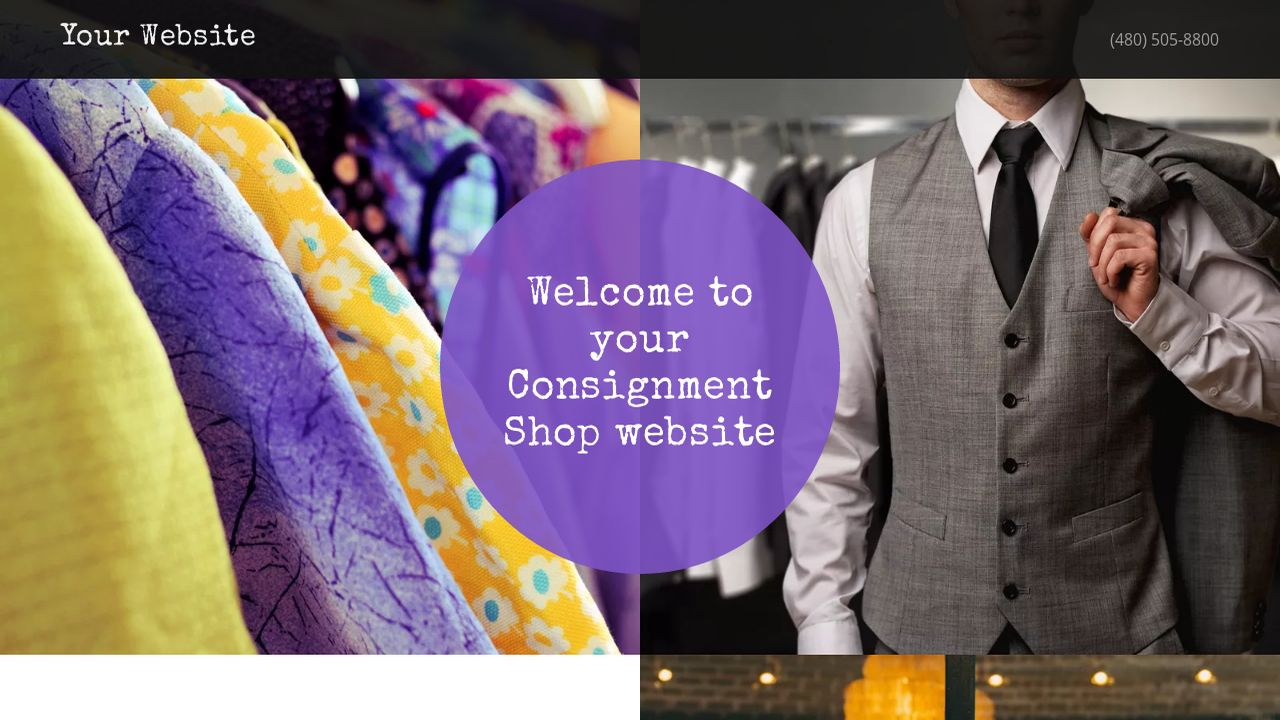 Consignment Shop Website: Example 7