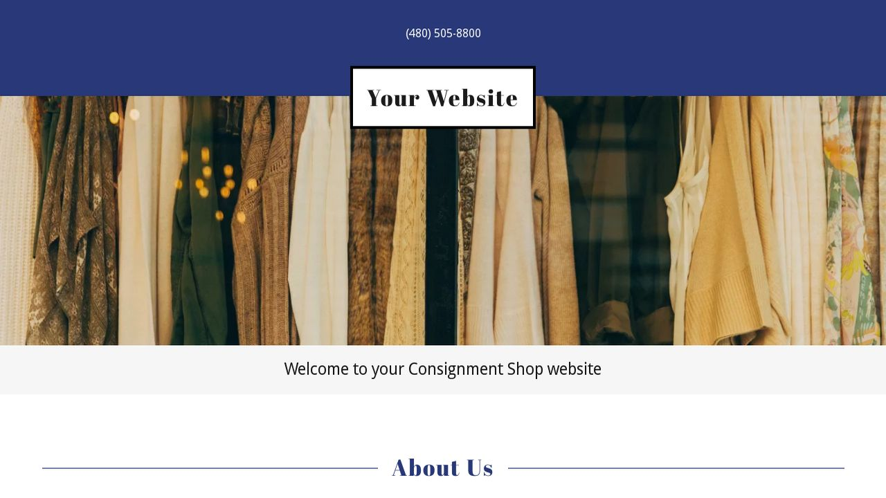 Consignment Shop Website: Example 9