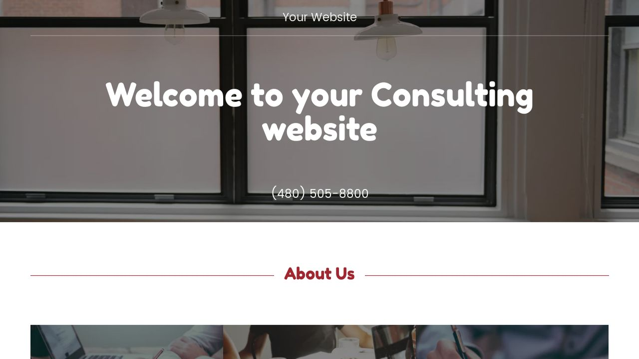 Consulting Website: Example 1