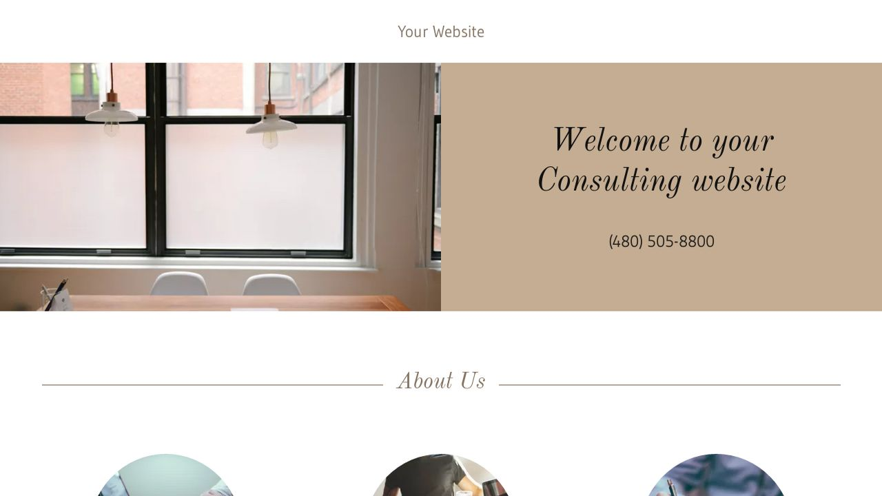 Consulting Website: Example 10