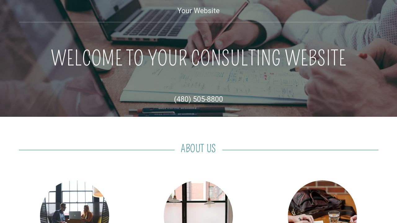 Consulting Website: Example 15