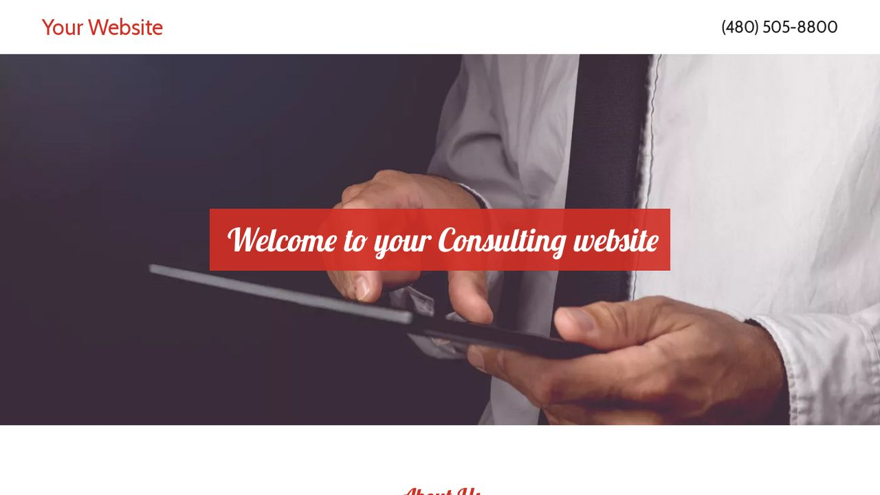 Consulting Website: Example 16