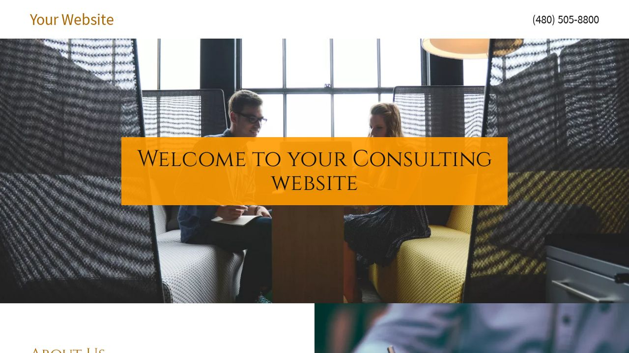 Consulting Website: Example 2