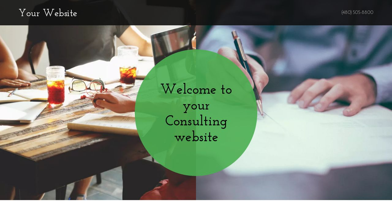 Consulting Website: Example 5