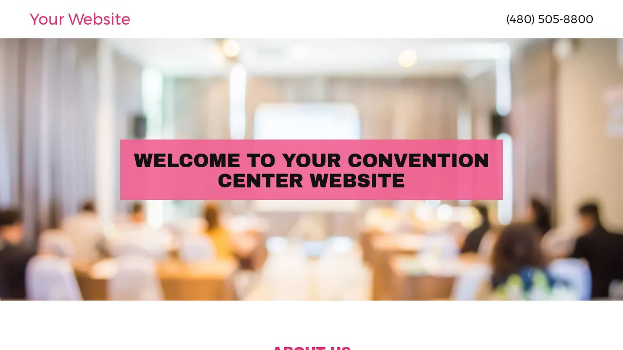 Convention Center Website: Example 1