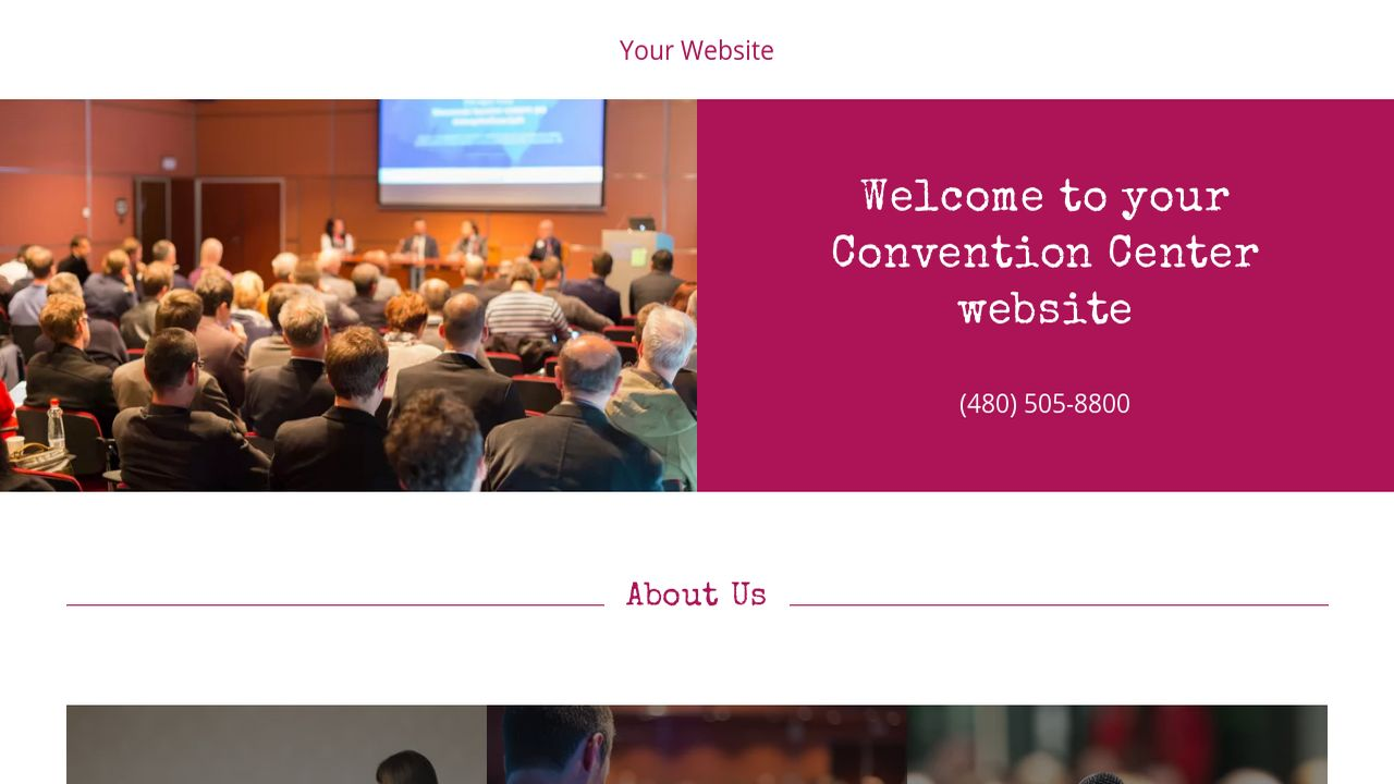 Convention Center Website: Example 11