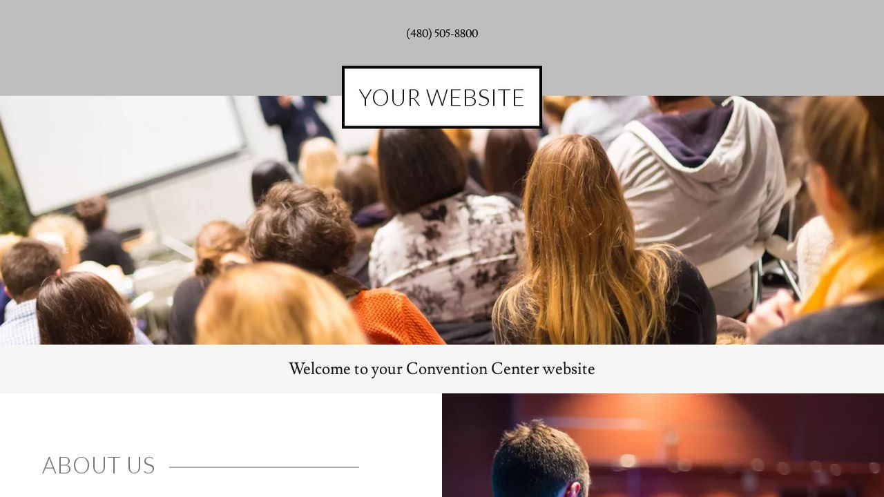Convention Center Website: Example 13