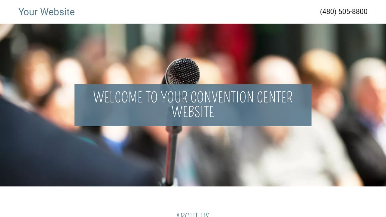 Convention Center Website: Example 15