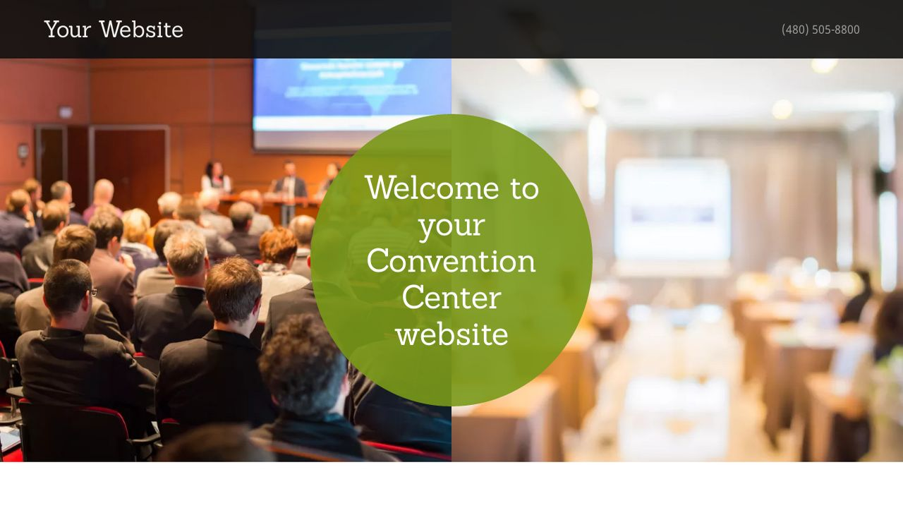 Convention Center Website: Example 16