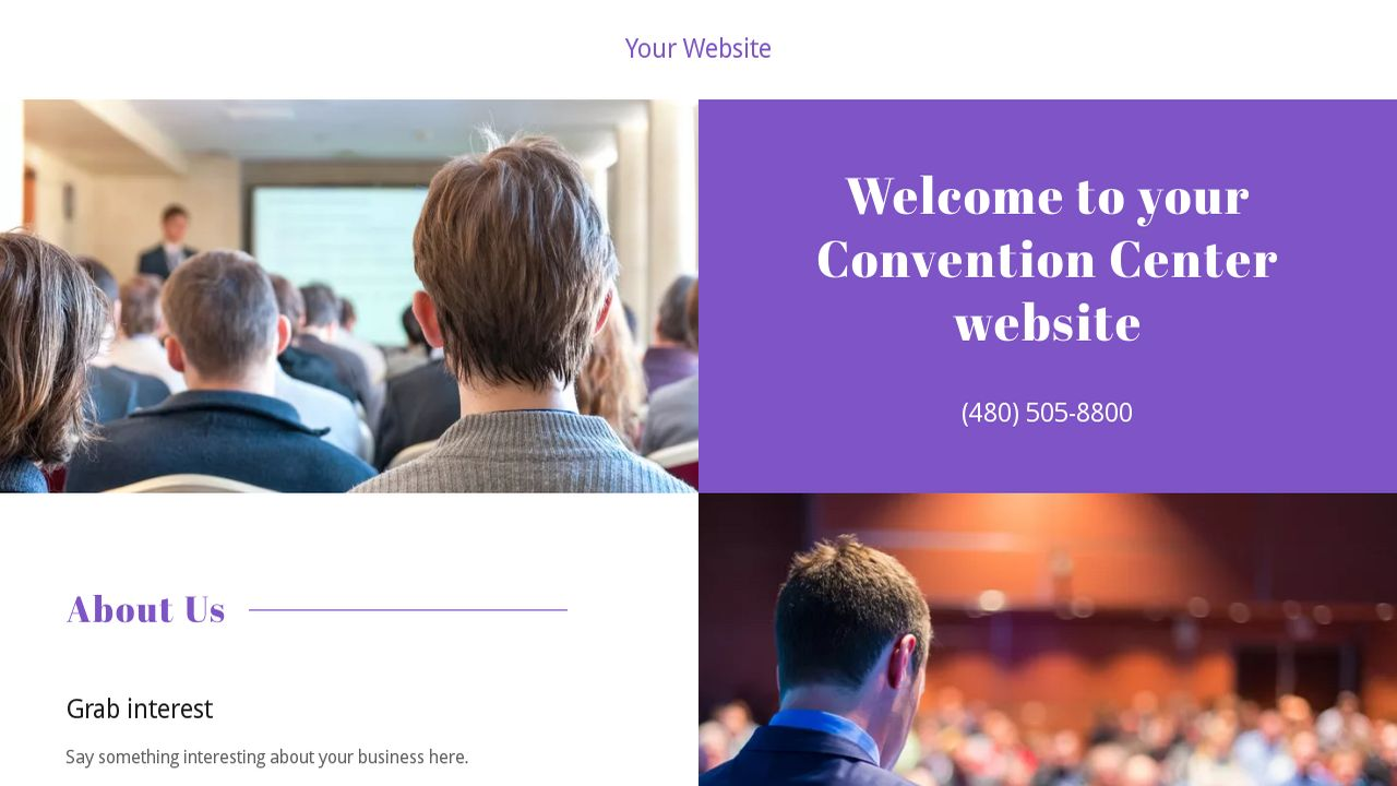 Convention Center Website: Example 18