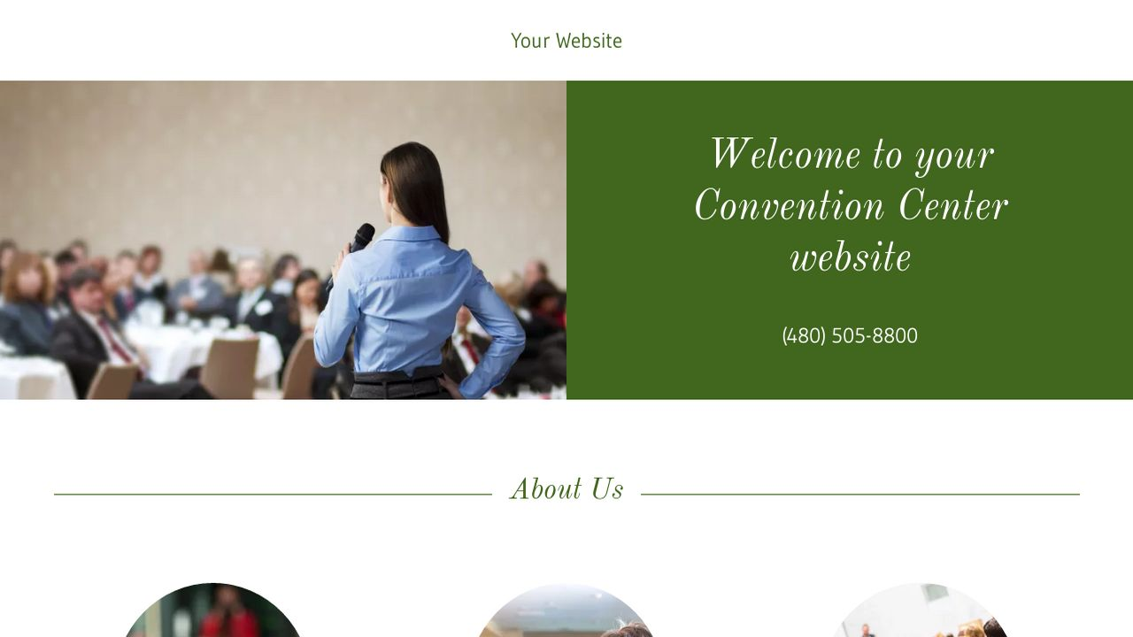 Convention Center Website: Example 4