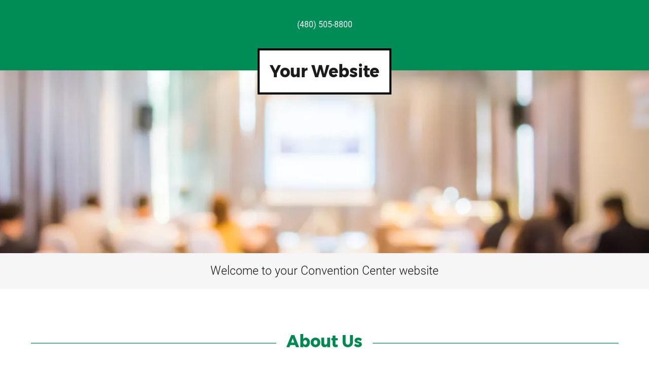 Convention Center Website: Example 6