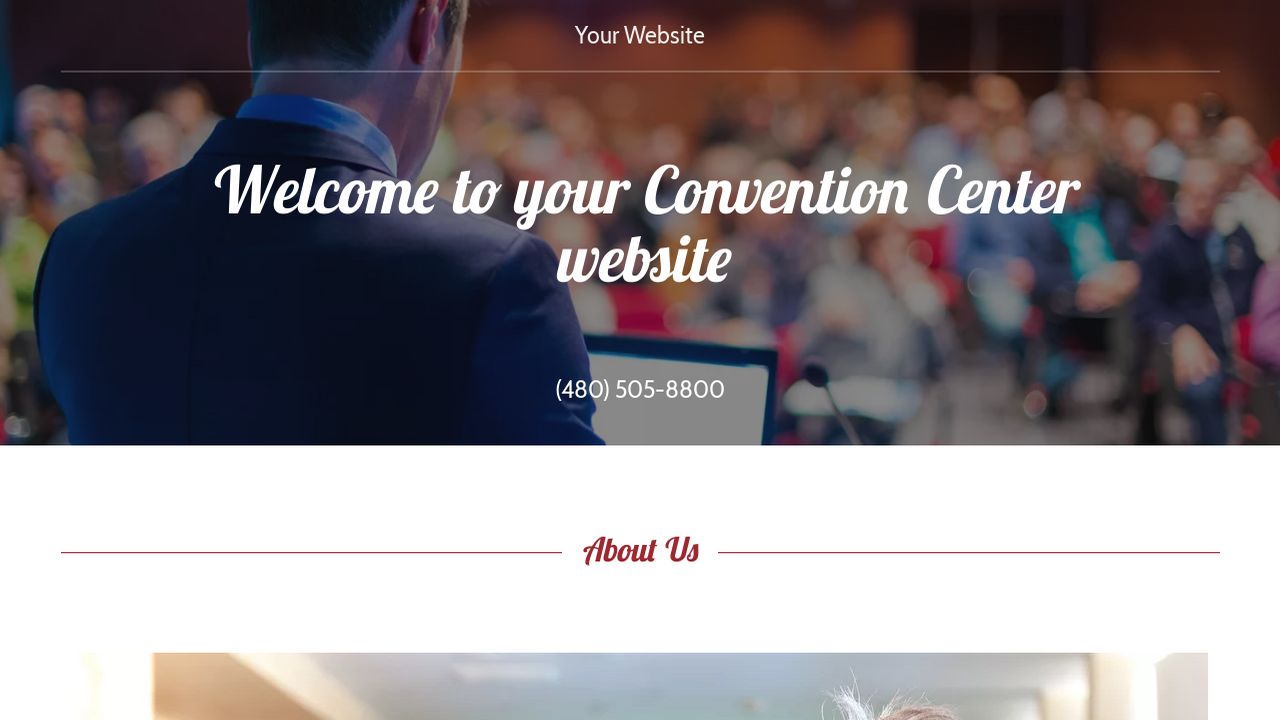 Convention Center Website: Example 7