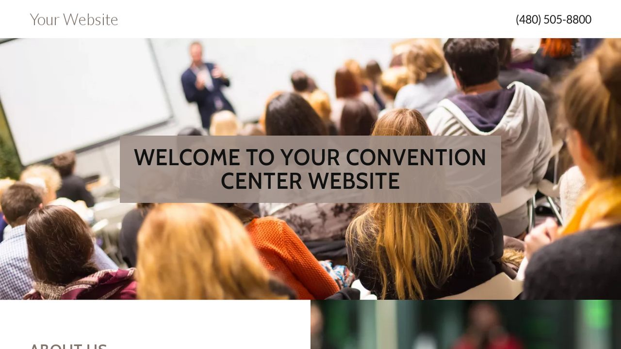 Convention Center Website: Example 8