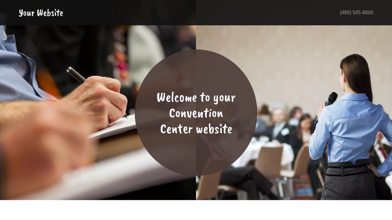 Convention Center Website: Example 9