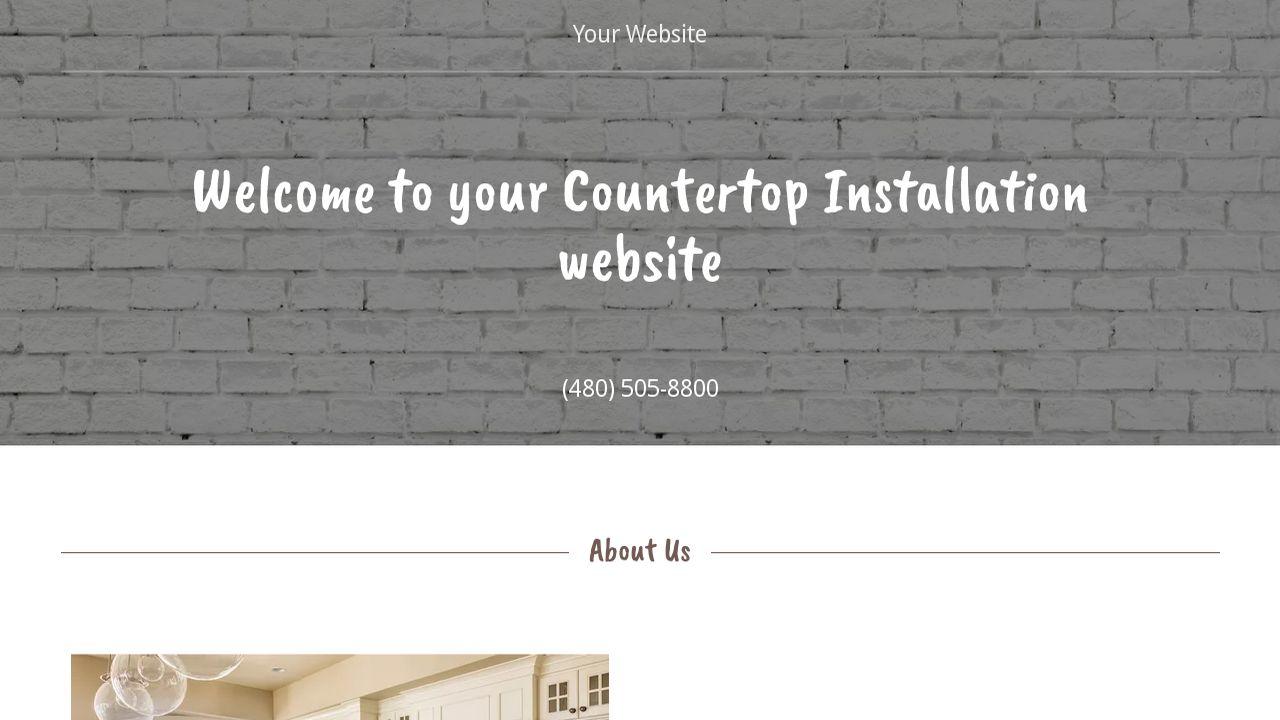 Example 2 Countertop Installation Website Template Godaddy