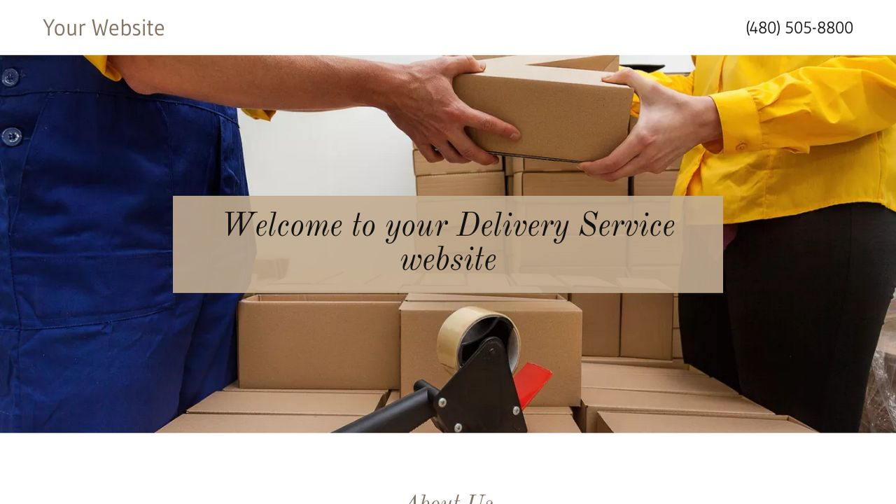 Delivery Service Website Templates | GoDaddy