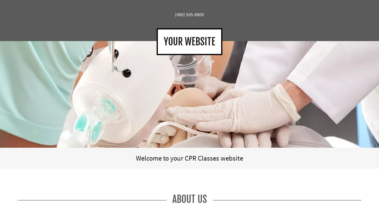 CPR Classes Website: Example 16