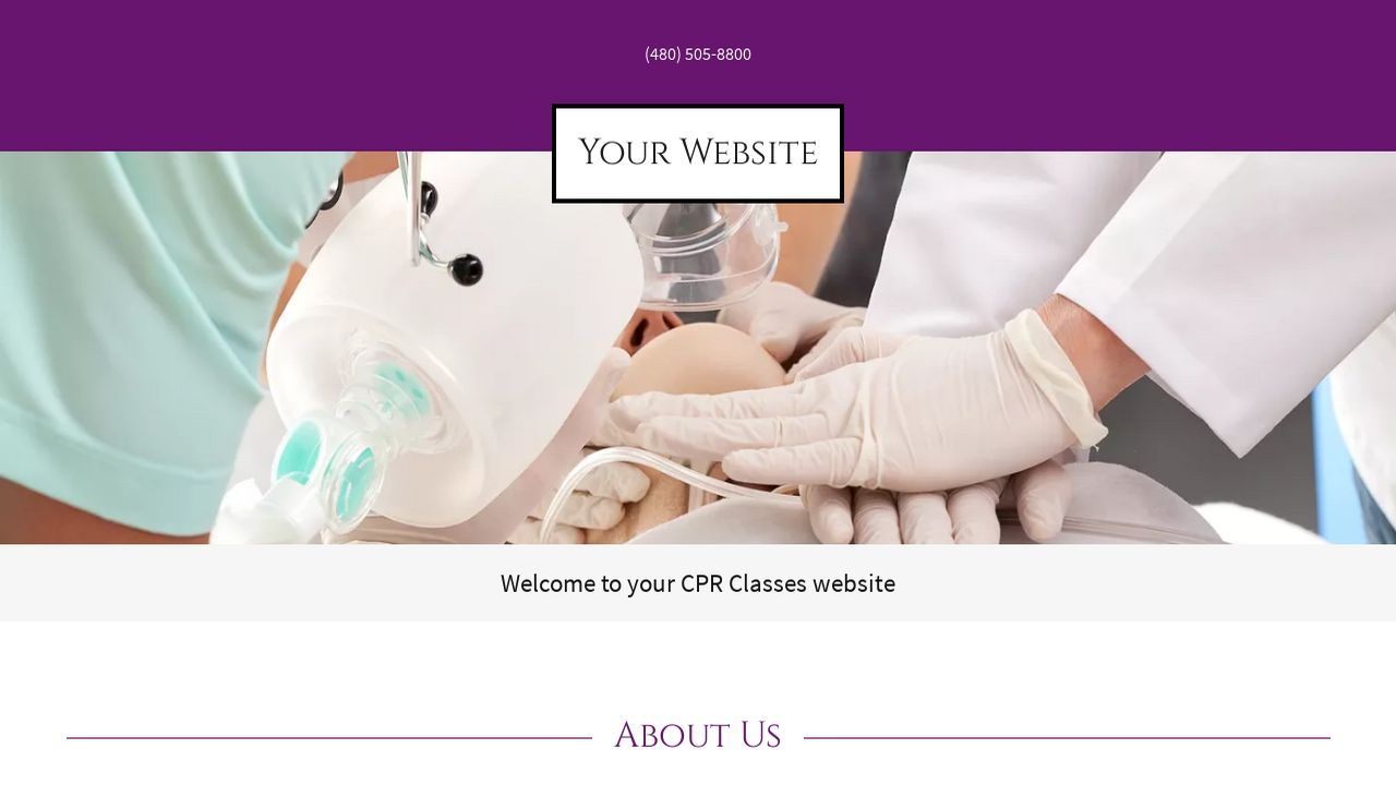 CPR Classes Website: Example 2