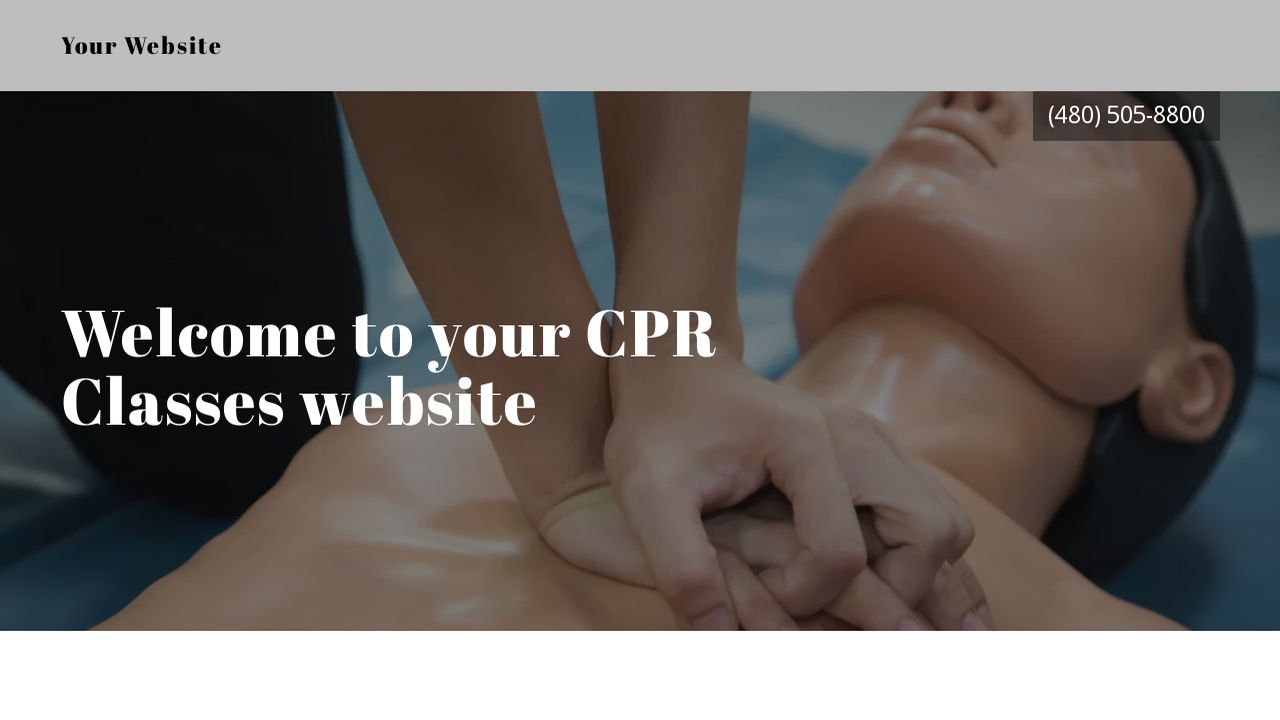 CPR Classes Website: Example 3