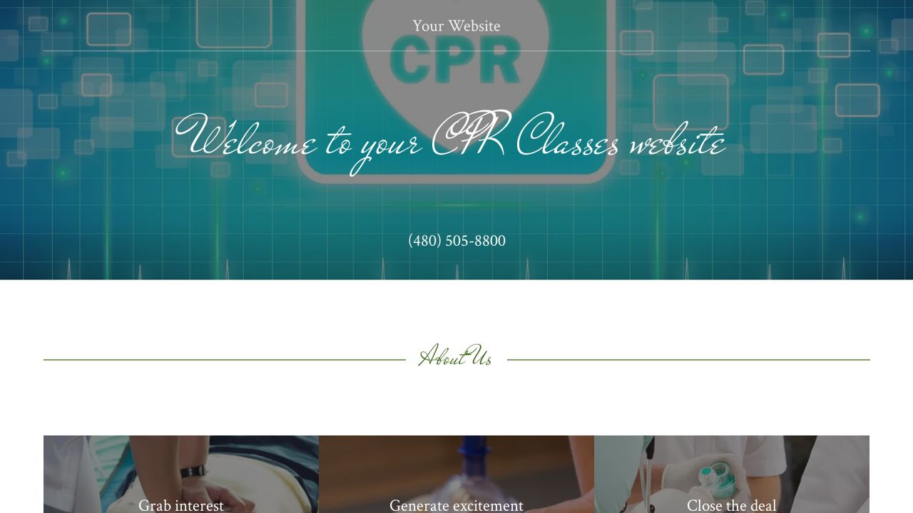 CPR Classes Website: Example 5