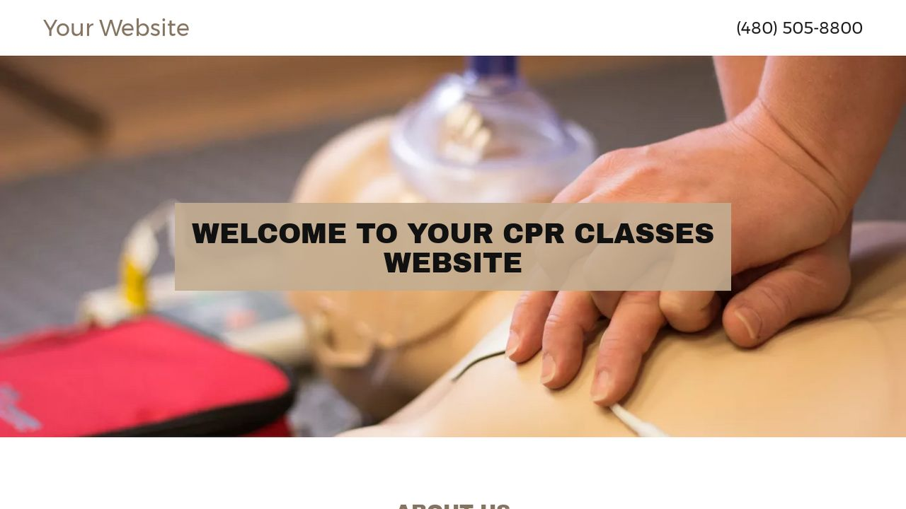 CPR Classes Website: Example 7