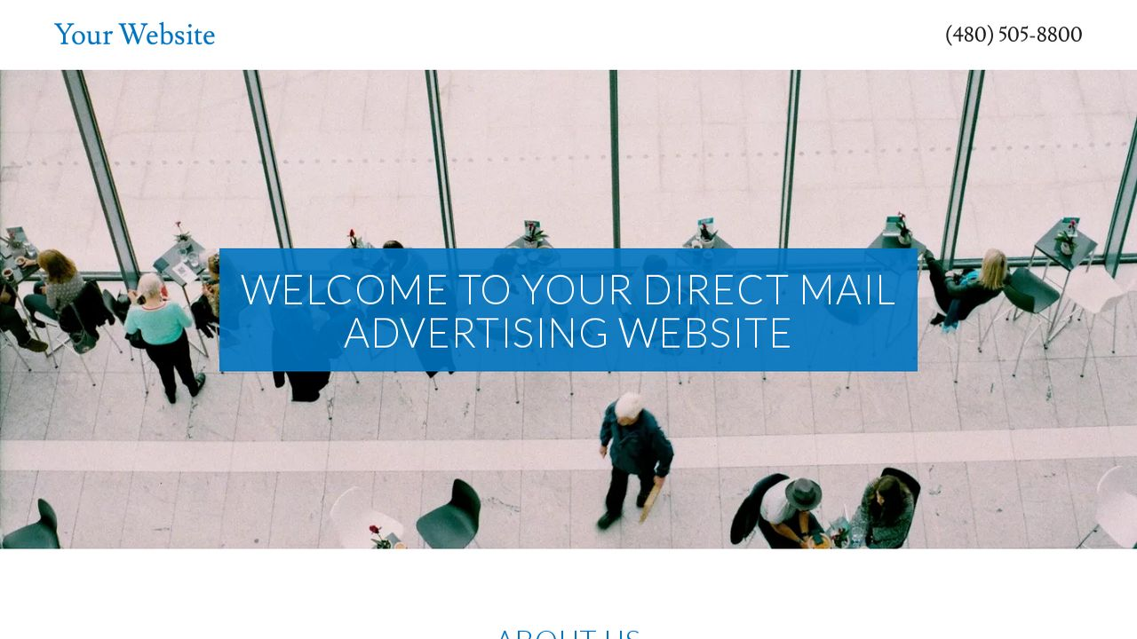 direct mail advertising website templates