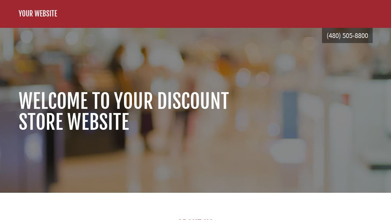 Discount Store Website: Example 1