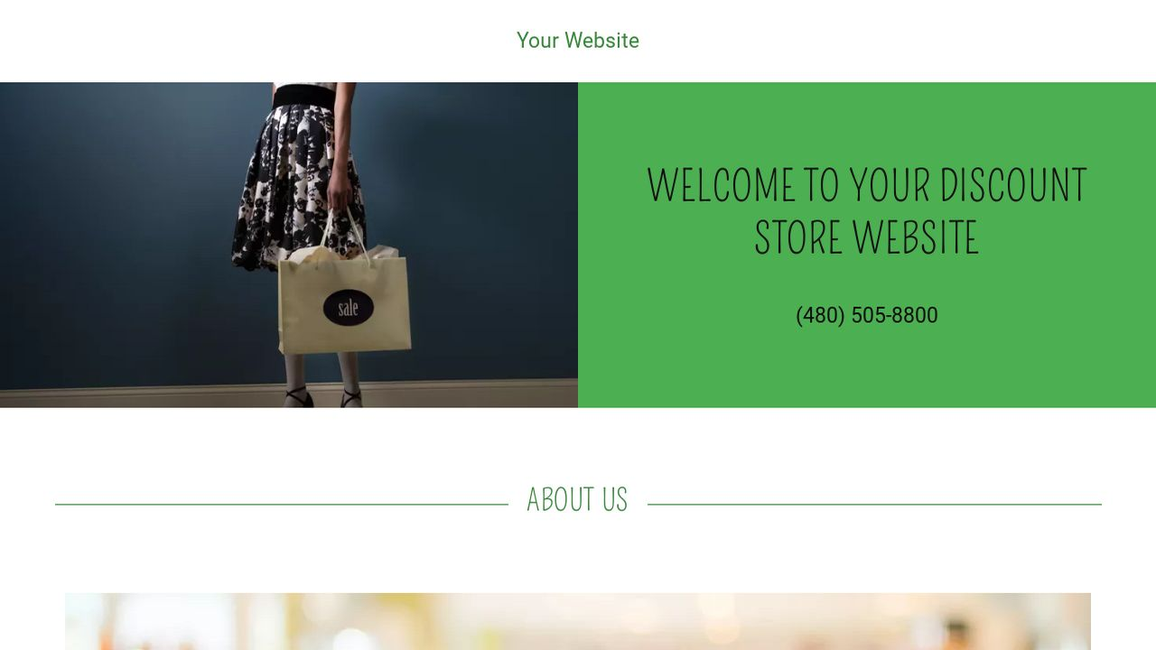 Discount Store Website: Example 13