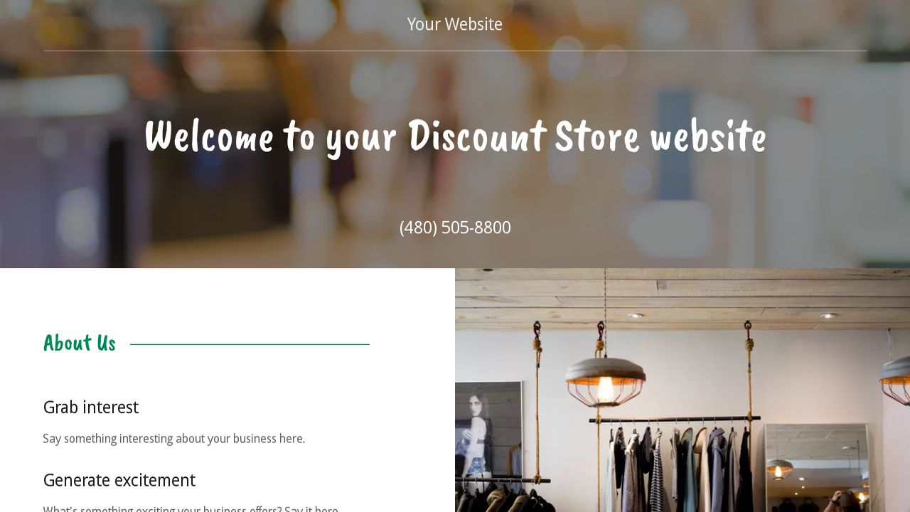 Discount Store Website: Example 2
