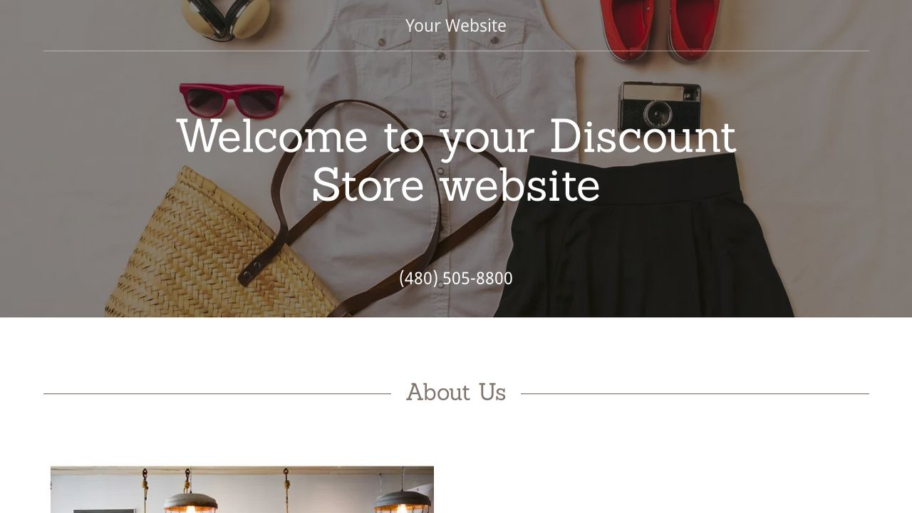 Discount Store Website: Example 9
