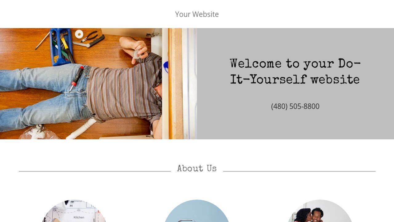 example 1 do it yourself website template godaddy. Black Bedroom Furniture Sets. Home Design Ideas