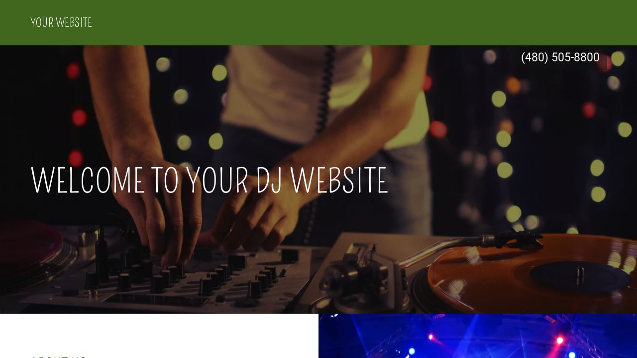 DJ Website Templates | GoDaddy