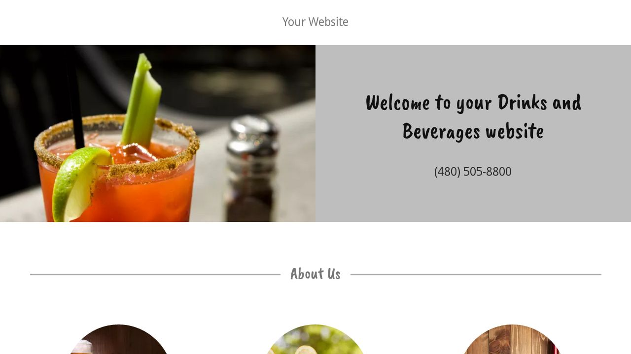Drinks and Beverages Website: Example 1