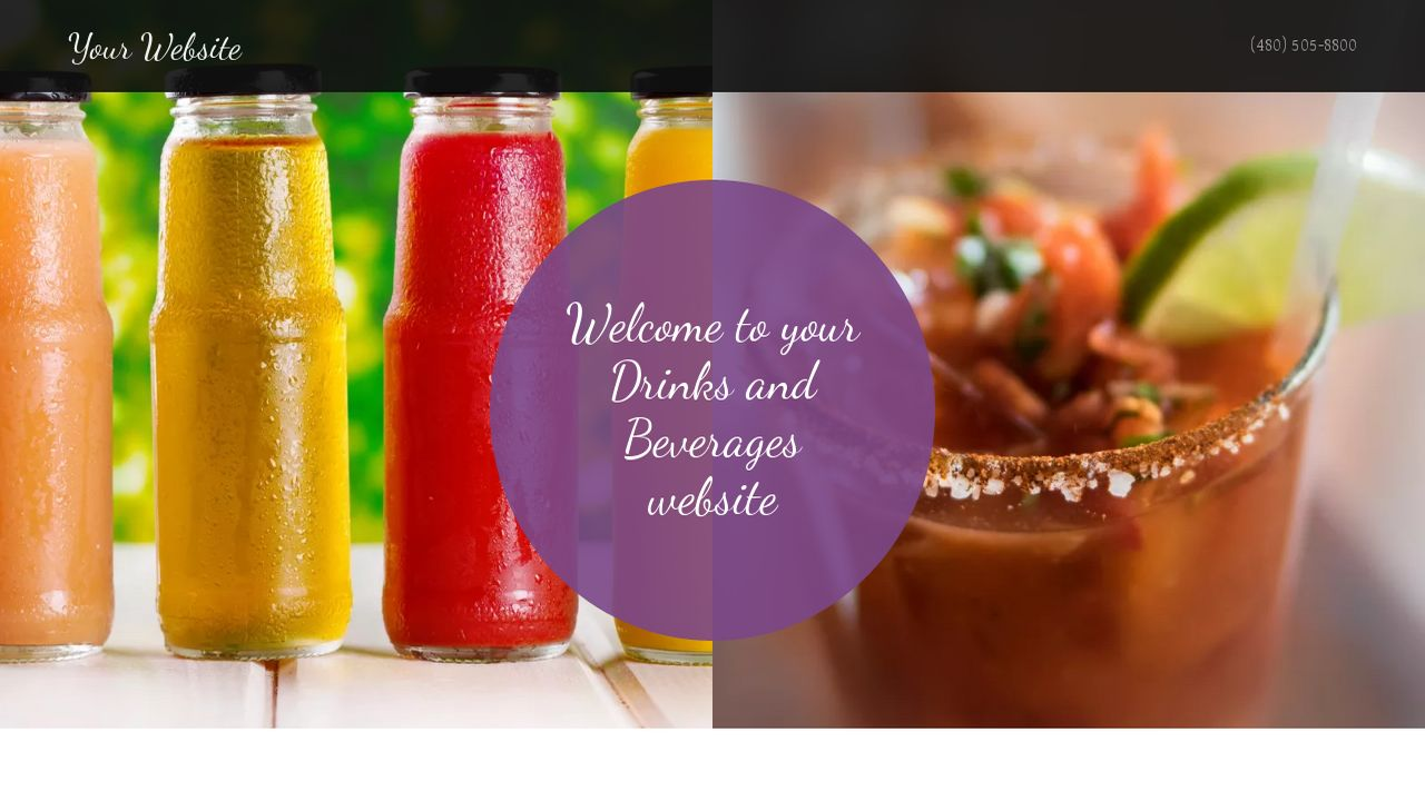 Drinks and Beverages Website: Example 11