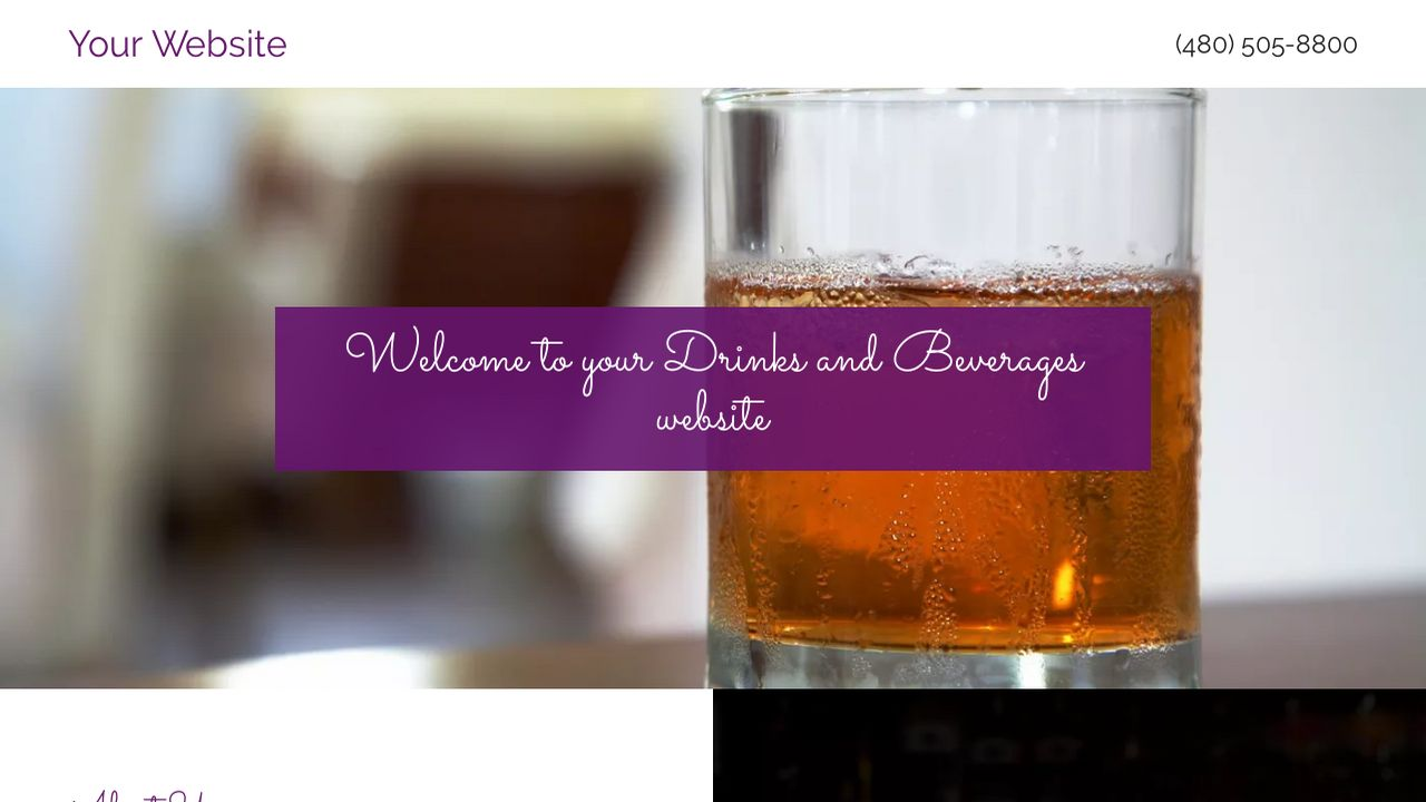 Drinks and Beverages Website: Example 12