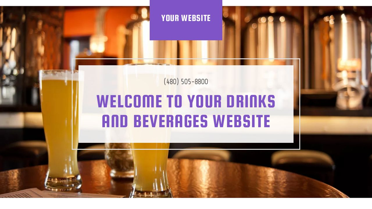 Drinks and Beverages Website: Example 16