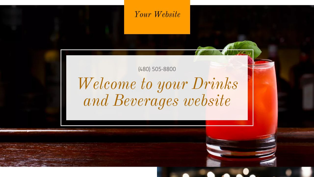 Drinks and Beverages Website: Example 2