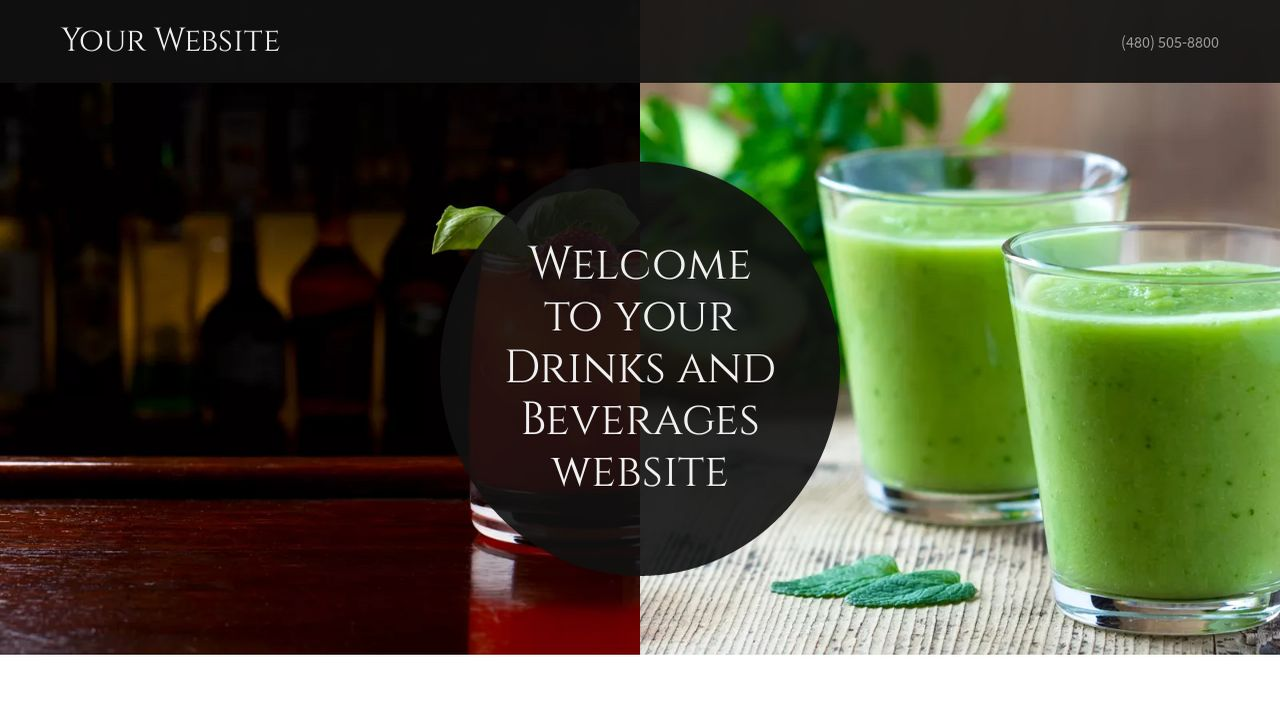 Drinks and Beverages Website: Example 4