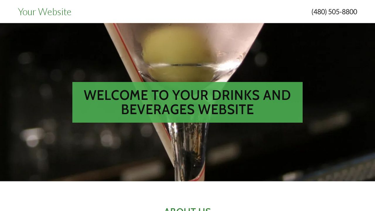 Drinks and Beverages Website: Example 5