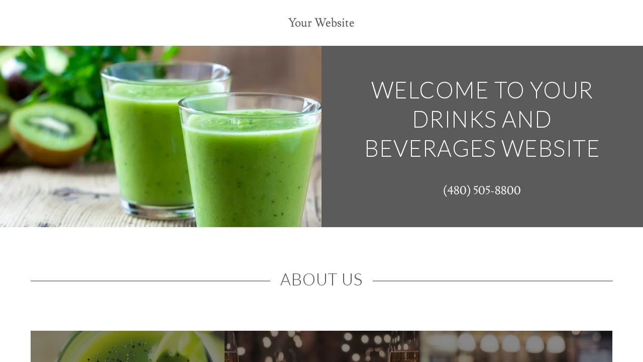 Drinks and Beverages Website: Example 8