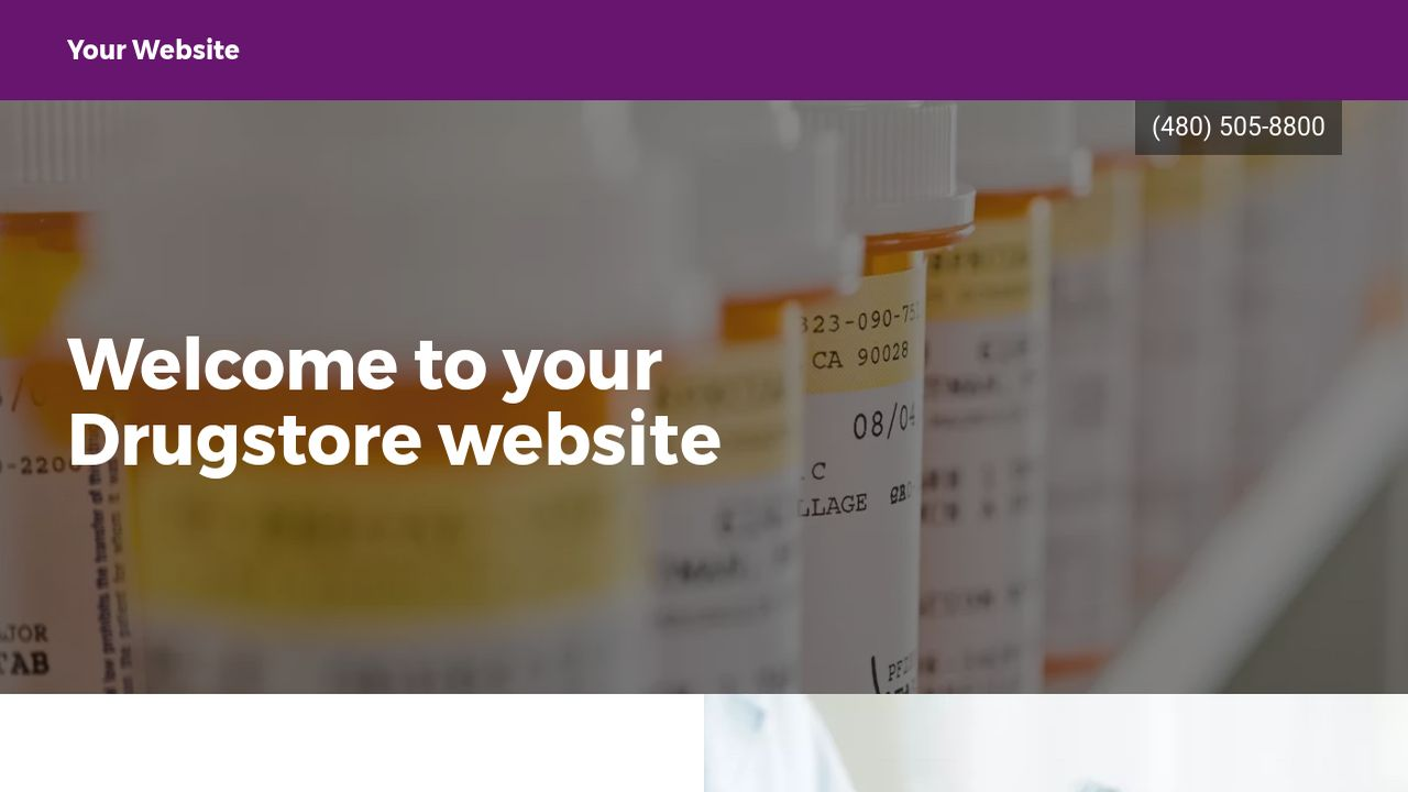 Drugstore Website: Example 1