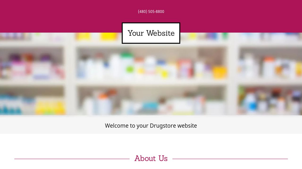 Drugstore Website: Example 14