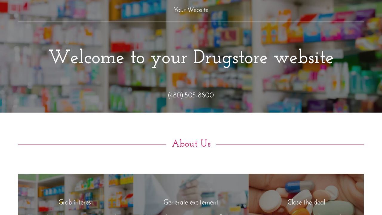 Drugstore Website: Example 17