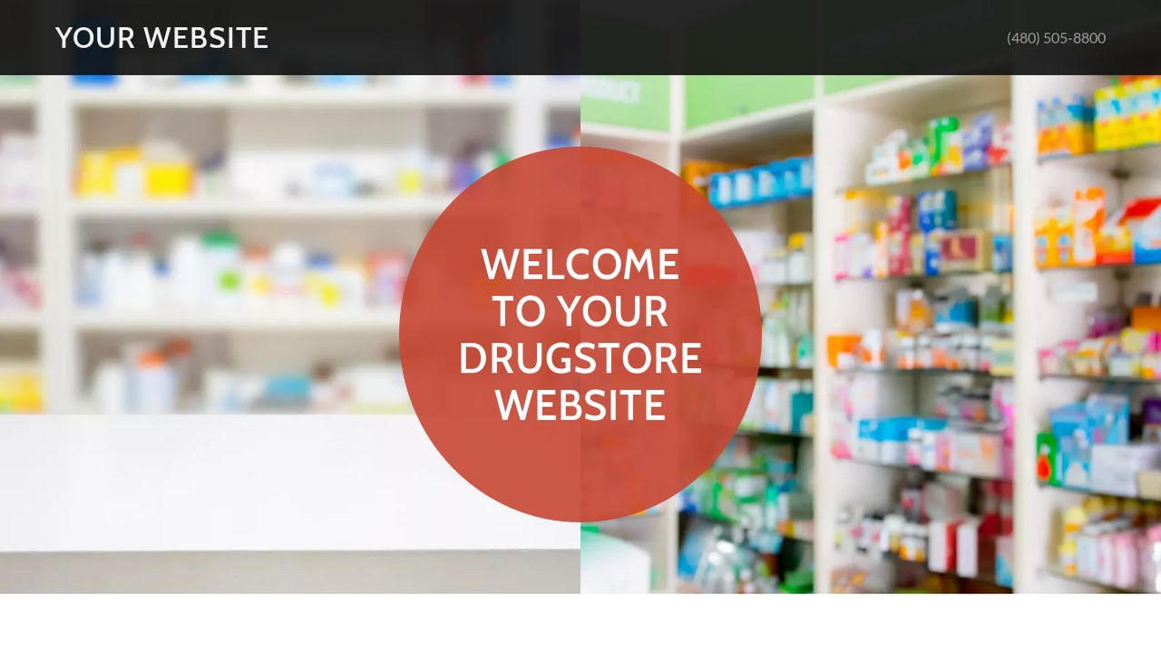 Drugstore Website: Example 4