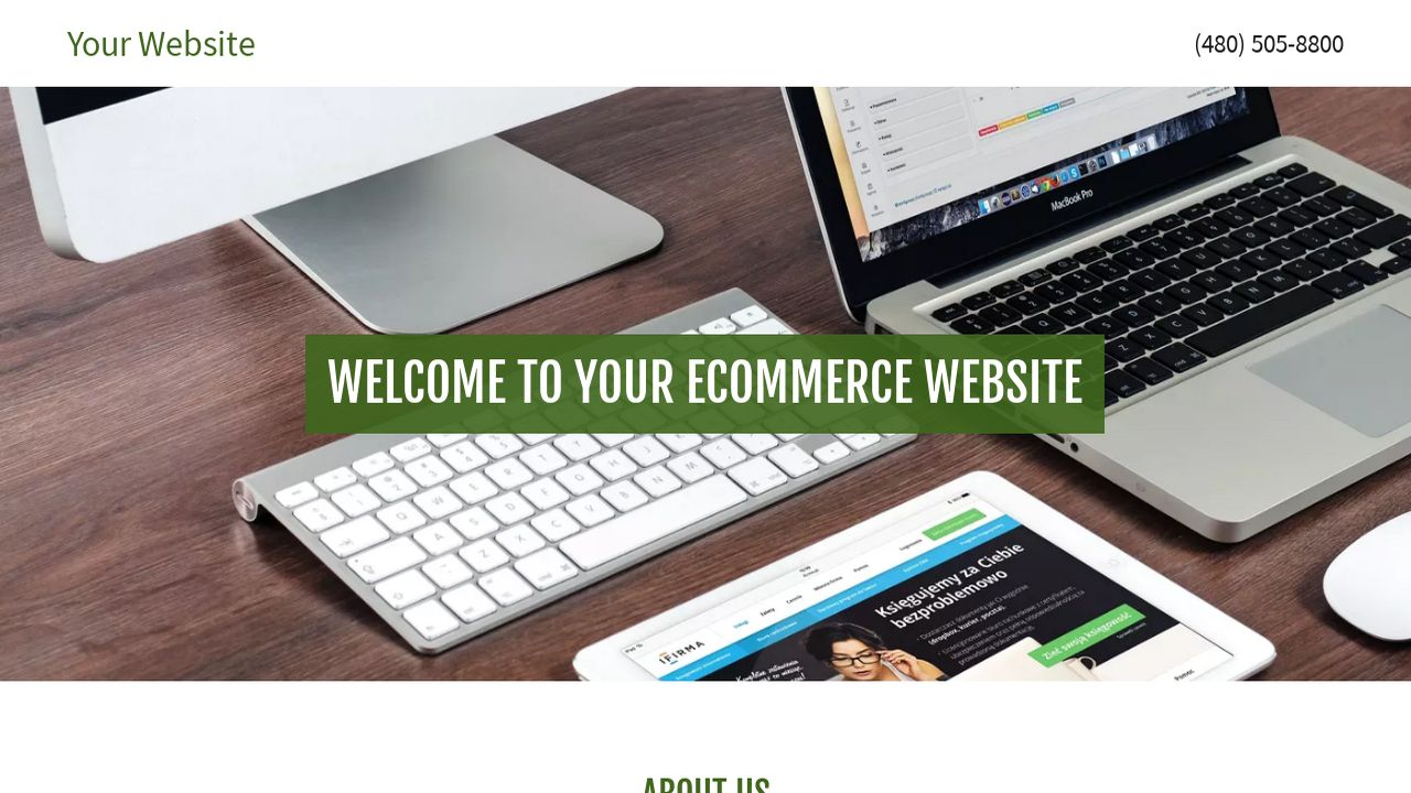 Example 14 ecommerce website template godaddy for Godaddy ecommerce templates