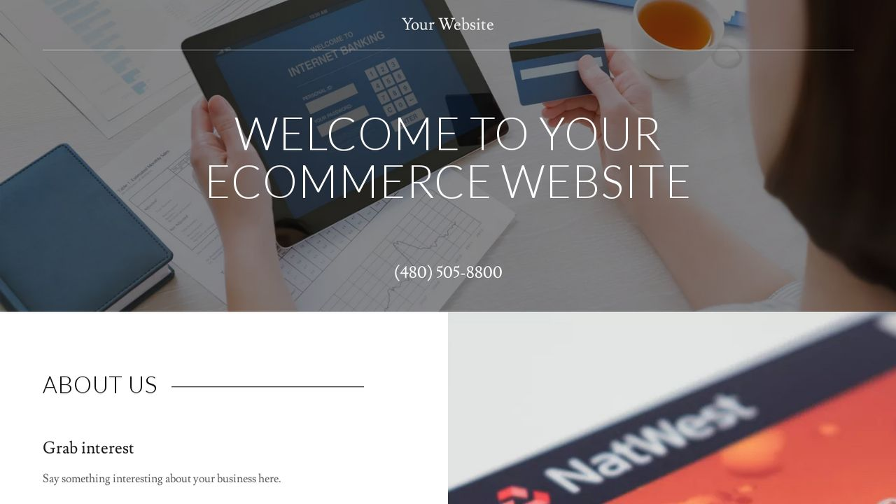 Example 5 ecommerce website template godaddy for Godaddy ecommerce templates